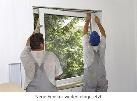 Austausch der Fenster mit gleichzeitiger Außenwanddämmung